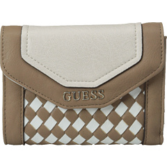 SALE! $17.99 - Save $24 on GUESS Havana Weave SLG Medium Zip Around (Cocoa Multi) Bags and Luggage - 57.17% OFF $42.00