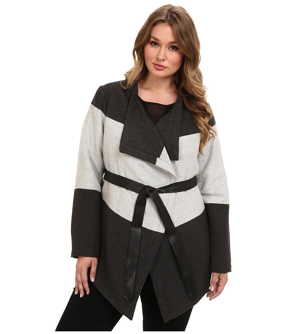 BB Dakota - Plus Size Hester Jacket (Charcoal) Women