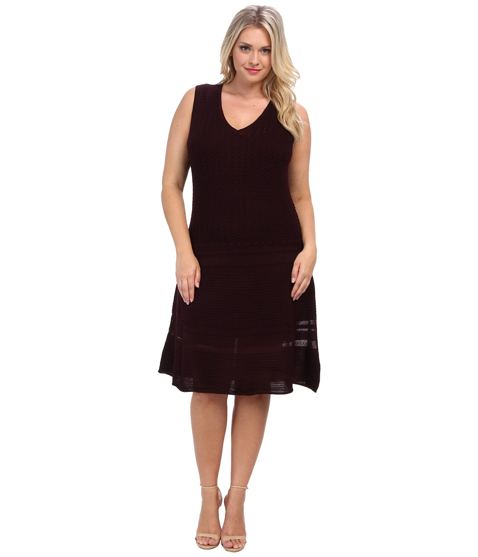 BB Dakota - Plus Size Yuma Dress (Aubergine) Women's Dress