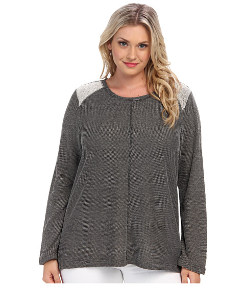 BB Dakota - Plus Size Boyd Knit (Grey) Women's Short Sleeve Knit