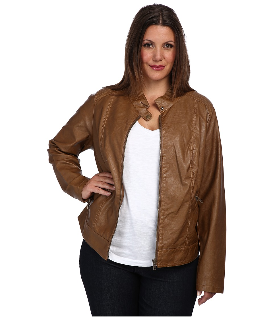 BB Dakota - Plus Size Janeen Jacket (Camel) Women's Jacket