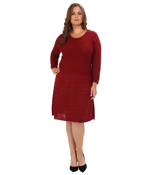 BB Dakota - Plus Size Aysha Dress (Blood Red) Women's Dress
