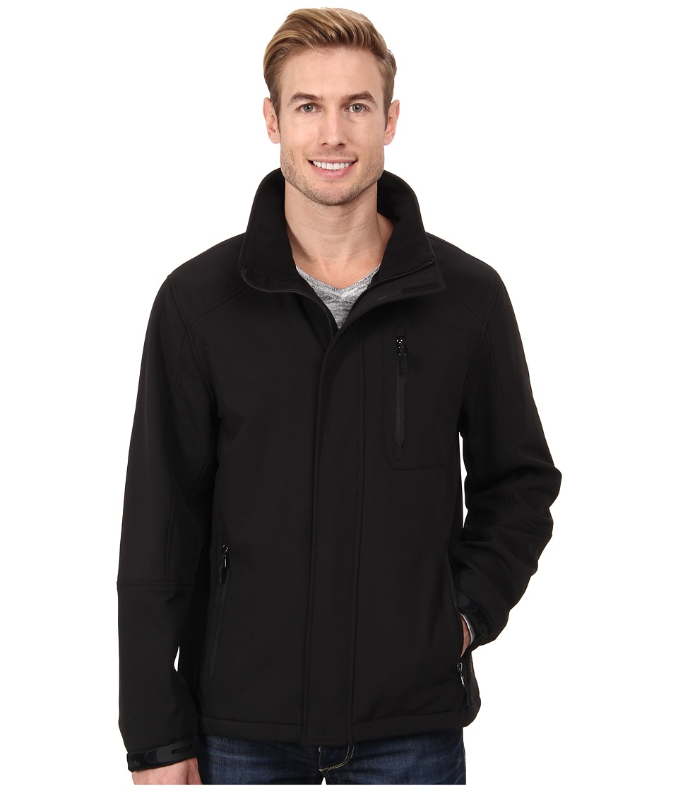 Calvin Klein - Soft Shell Zip Front Jacket CM403723 (Black) Men's Coat