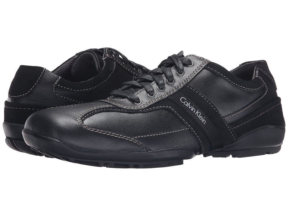 Calvin Klein - Ben (Black Leather) Men's Lace up casual Shoes