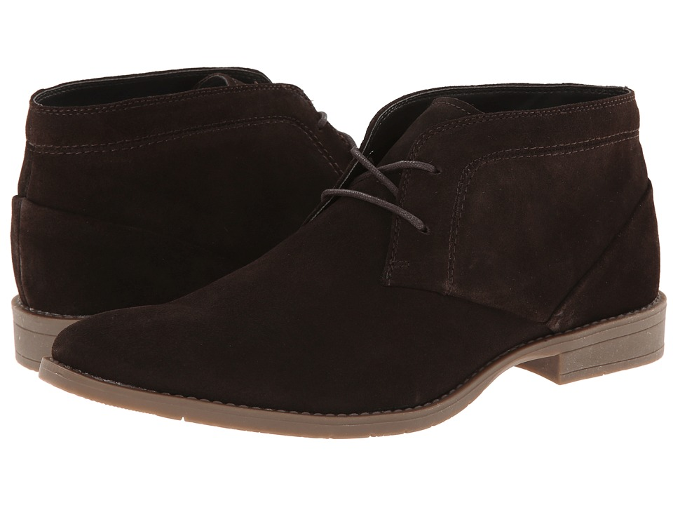 calvin klein wilson 2 brown suede s lace up boots