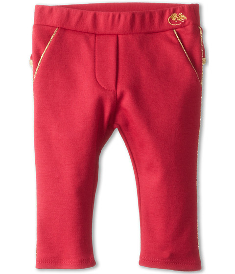Little Marc Jacobs - Milano Pant w/ Back Ruffle (Infant) (Strawberry) Girl's Casual Pants