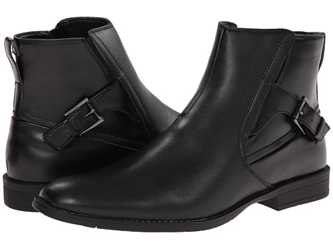 Calvin Klein Winston (Black Leather) Men's Pull-on Boots