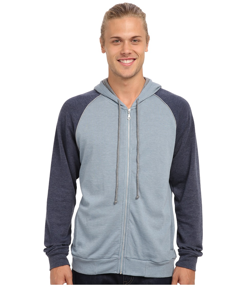 Alternative - Light French Terry Zip Hoodie (Blue Fog Midnight/Shadow) Men