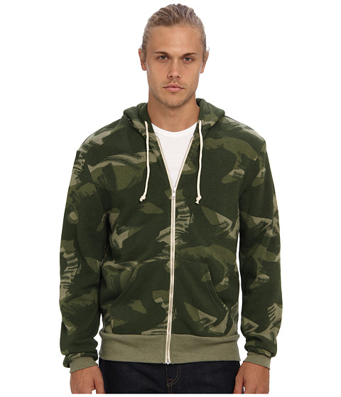 Alternative - Printed Rocky Zip Hoodie (Paintbrush Camo) Men's Sweatshirt