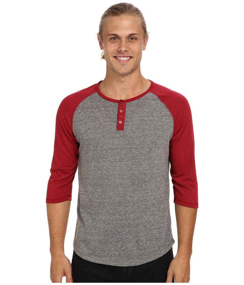 Alternative - Baseball Tee (Eco Grey/Eco Splash Redwood) Men's Long Sleeve Pullover