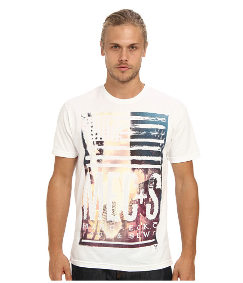 Marc Ecko Cut & Sew - City Sundown Tee (White) Men