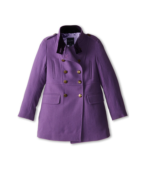 Oscar de la Renta Childrenswear - Wool Drill Coat (Toddler/Little Kids/Big Kids) (Orchid) Girl's Coat