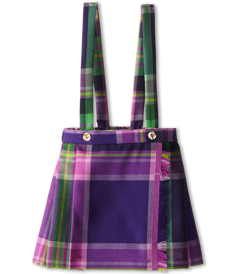 Oscar de la Renta Childrenswear - Plaid Wool Pleated Kilt (Toddler/Little Kids/Big Kids) (Violet Multi) Girl's Skirt