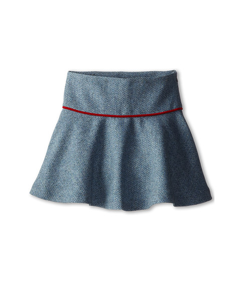 Oscar de la Renta Childrenswear - Tweed Scallop Skirt (Toddler/Little Kids/Big Kids) (Teal) Girl's Skirt