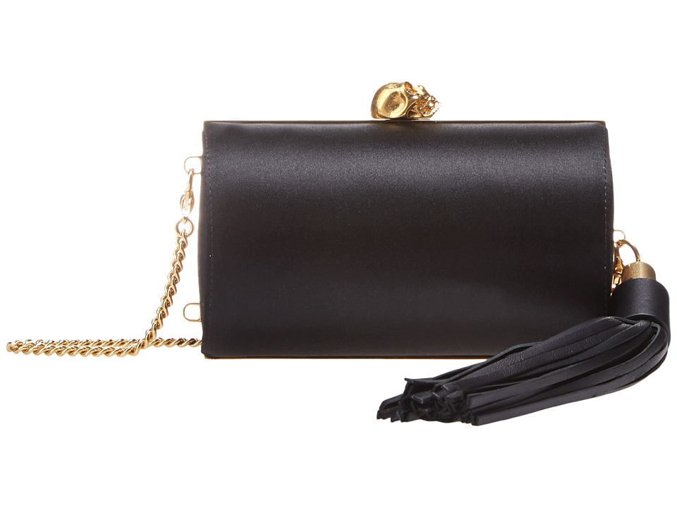 Alexander McQueen - North South Skull Tassel Clutch (Black) Clutch Handbags