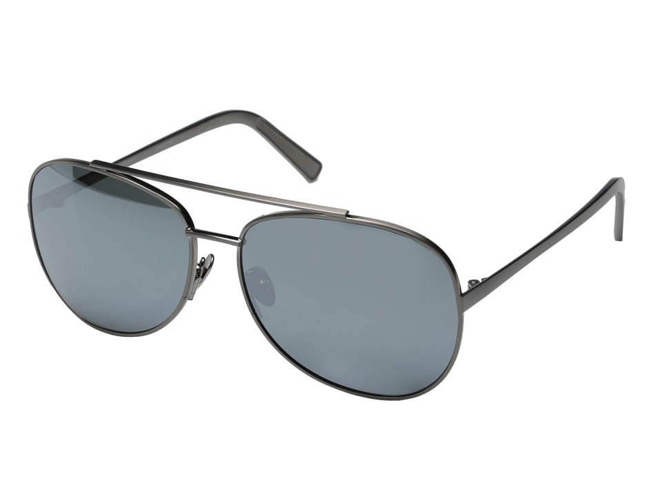 Elizabeth and James - Southport (Brush Gunmetal/Silver Mirror) Fashion Sunglasses
