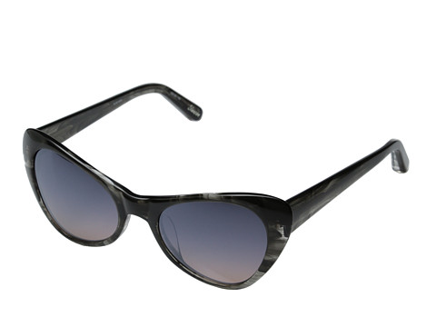 Elizabeth and James - Slauson (Shiny Black Smoke/Smoke Brown Silver Flash Mirror) Fashion Sunglasses
