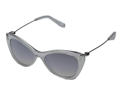 Elizabeth and James - Fillmore (Shiny Silver Mesh/Smoke Grad Flash Mirror) Fashion Sunglasses