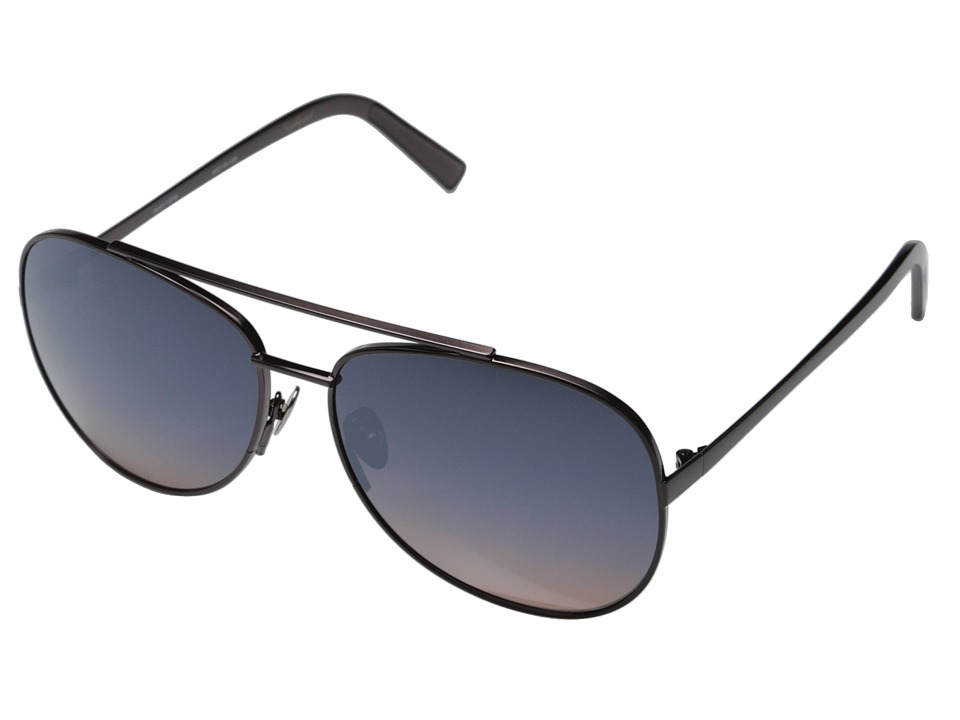 Elizabeth and James - Southport (Brush Burgundy Metal/Smoke Brown Silver Flash Mirror) Fashion Sunglasses