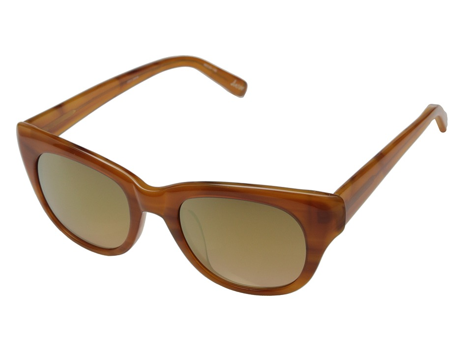 Elizabeth and James - Anson (Shiny Caramel Smoke/Brown Orange Gold Flash Mirror) Fashion Sunglasses