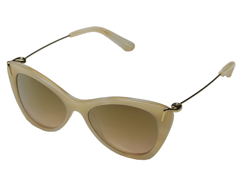 Elizabeth and James - Fillmore (Shiny Cream Demi/Brown Orange Gold Flash Mirror) Fashion Sunglasses
