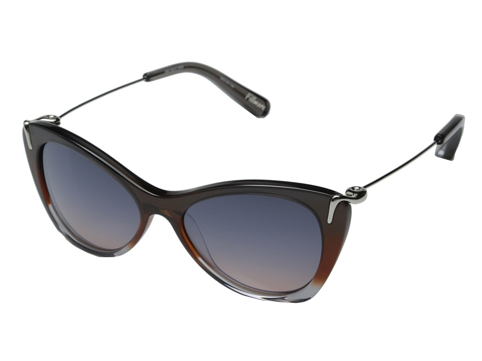 Elizabeth and James - Fillmore (Shiny Smoke Brown Gradient/Smoke Brown Silver Flash Mirror) Fashion Sunglasses