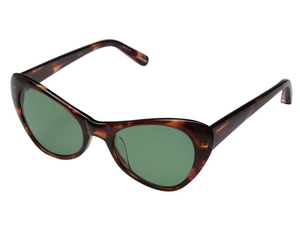 Elizabeth and James - Slauson (Shiny Red Brown Smoke/Green Mono Polarized) Fashion Sunglasses
