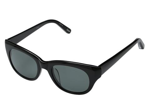 Elizabeth and James - Anson (Shiny Black/Smoke Mono Polarized) Fashion Sunglasses