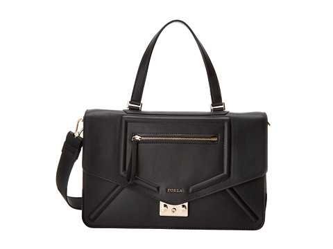 Furla - Alice M Top Handle (Onyx) Top-handle Handbags