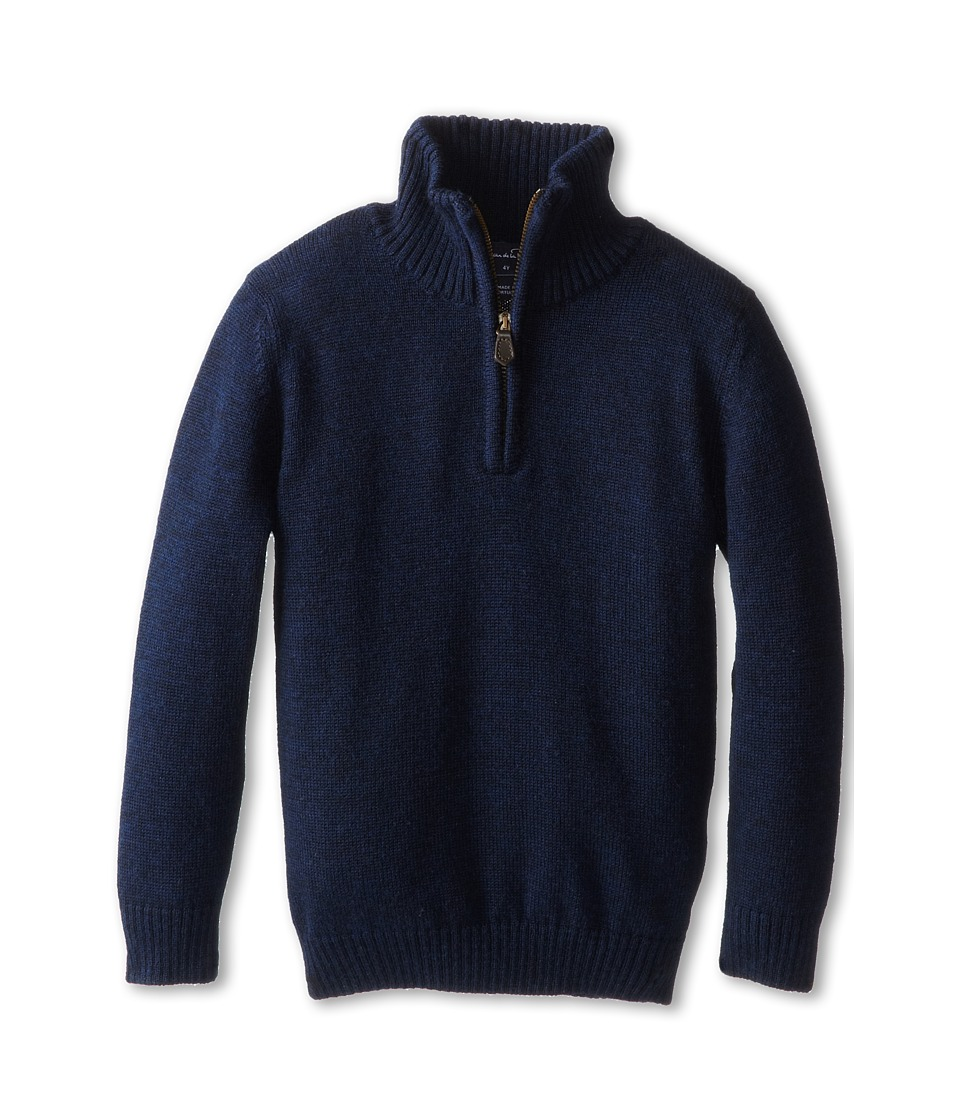 Oscar de la Renta Childrenswear - Merino Half Zip Sweater (Toddler/Little Kids/Big Kids) (Navy) Boy's Sweater