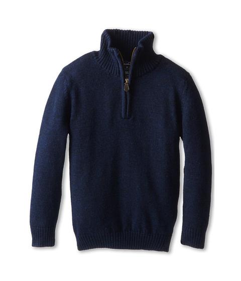 Oscar de la Renta Childrenswear - Merino Half Zip Sweater (Toddler/Little Kids/Big Kids) (Navy) Boy