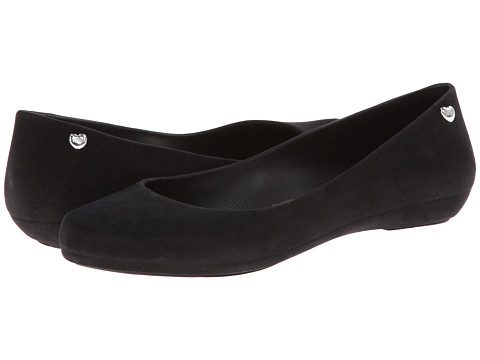 Melissa Shoes - Mel Pop Flocked (Black Flocked) Women's Slip on Shoes