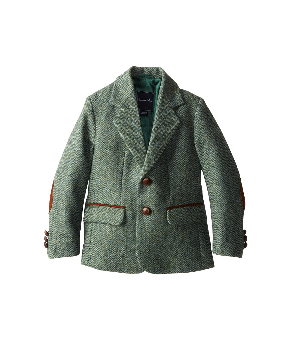 Oscar de la Renta Childrenswear - Tweed Blazer (Toddler/Little Kids/Big Kids) (Laurel) Boy's Jacket