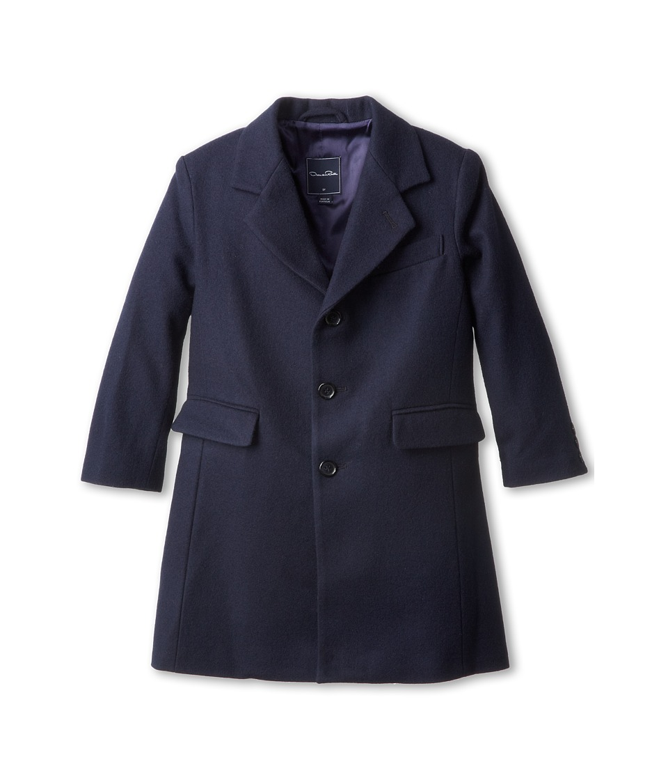 Oscar de la Renta Childrenswear - Wool Loden Overcoat (Toddler/Little Kids/Big Kids) (Navy) Boy's Coat