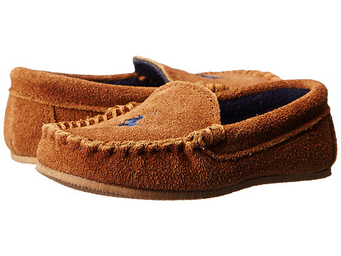 Polo Ralph Lauren Kids - Desmond Moc (Toddler) (Snuff Suede w/ Navy Fleece Lining & Cream Pony Player) Kids Shoes