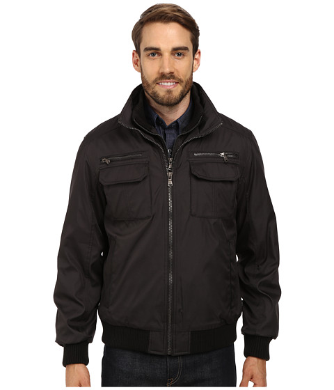 Calvin Klein - Ripstop Performance Bomber Jacket CM402267 (Pewter) Men's Coat