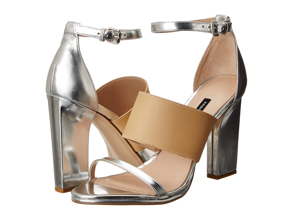 French Connection - Ina (Silver/Nude/Silver) High Heels