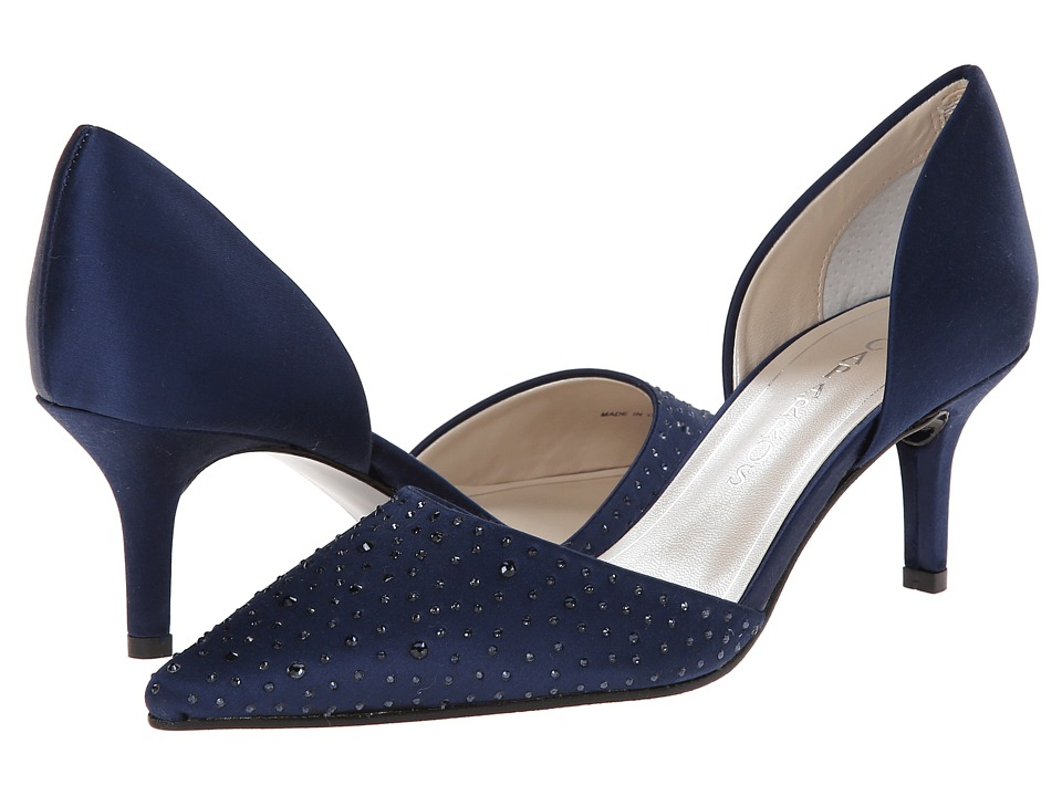 Caparros - Ola (Navy Satin) Women's 1-2 inch heel Shoes