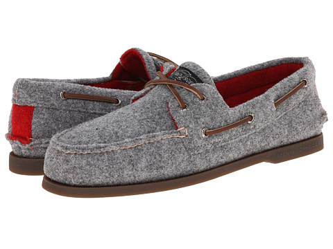 Sperry Top-Sider - A/O 2-Eye Dual Tone Wool (Grey/Red Wool) Men's Lace up casual Shoes