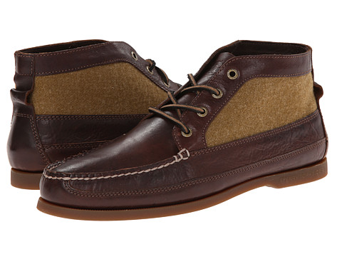 Sperry Top-Sider - A/O Boat Chukka (Brown Leather/Tan Wool) Men's Pull-on Boots