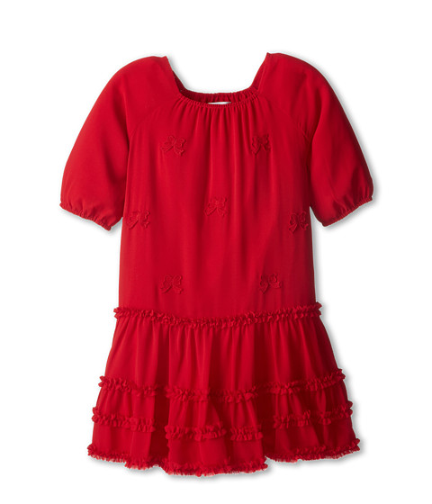 Us Angels - Chiffon Ruffle Dress (Big Kids) (Red) Girl