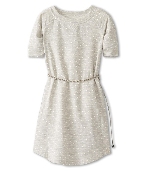 Us Angels - Raglan Sleeve Dot French Terry Dress (Big Kids) (Grey) Girl's Dress