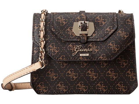 Upc 885935619622 Product Image For Guess Confidential Logo Pee Crossbody Flap Brown Cross Body