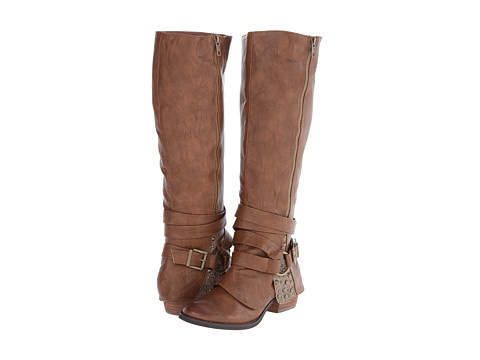 Not Rated - Two of Hearts (Tan) Women's Zip Boots