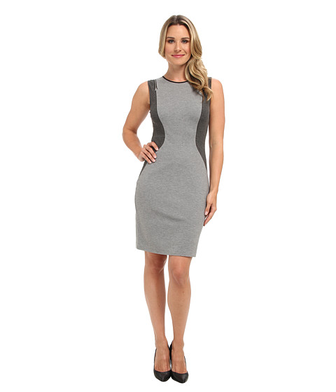 Kenneth Cole New York - Gardenia Dress (Grey Melange/Dar Grey Melange) Women