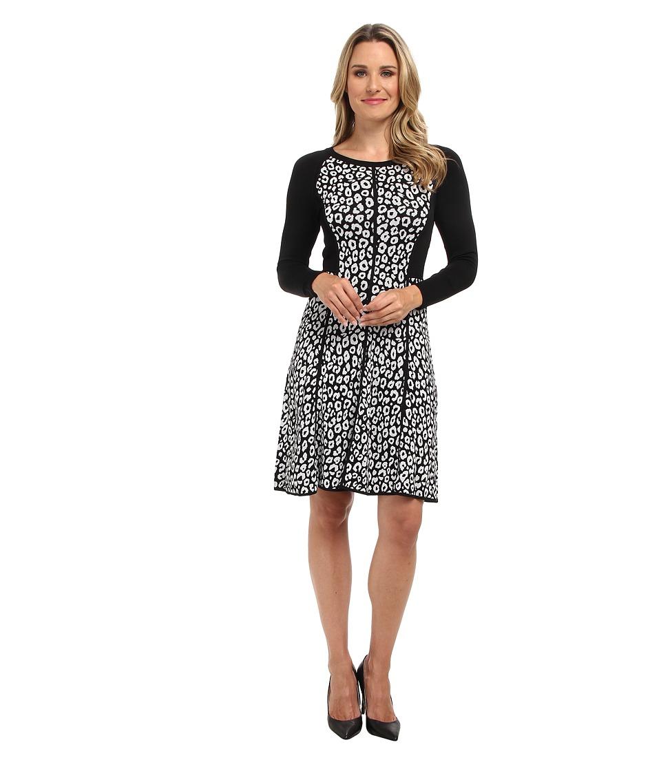 Kenneth Cole New York - Marnie Sweater Dress (Black/White) Women