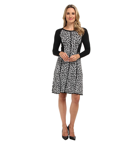 Kenneth Cole New York - Marnie Sweater Dress (Black/White) Women