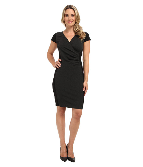 Kenneth Cole New York - Chantal Dress (Charcoal Melange/Black) Women's Dress