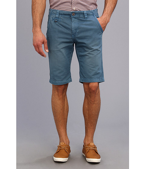 Seven7 Jeans - Twill Flat Front Short (Cadet Blue) Men's Shorts