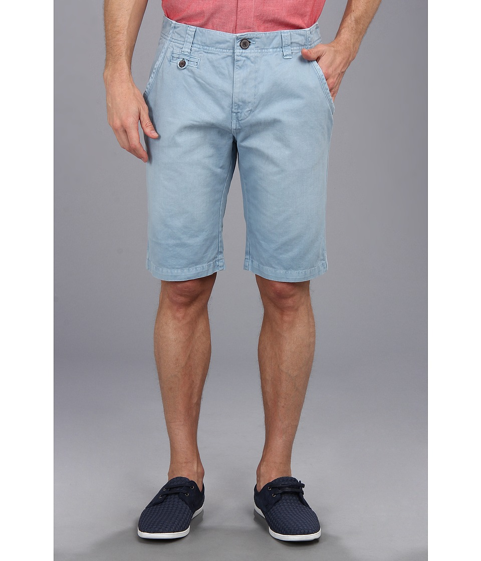 Seven7 Jeans - Twill Flat Front Short (Light Blue) Men's Shorts
